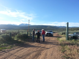 At the Cielo Vista Ranch Gate