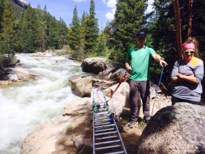 pic from Will. Perspective on the stream crossing.