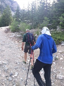 "Day 3. Hiking up the Lake Como Road after Jaws 1 to the 3000"" point."