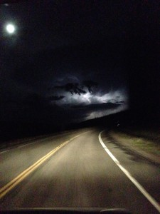 Day 2 Driving to Creede.  Scary Lightning.