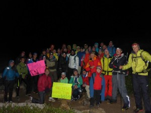 ALL OF US SUPPORTERS OF ANDREW!!!! Thanks 14er community, this would not have been possible without your motivation and support!